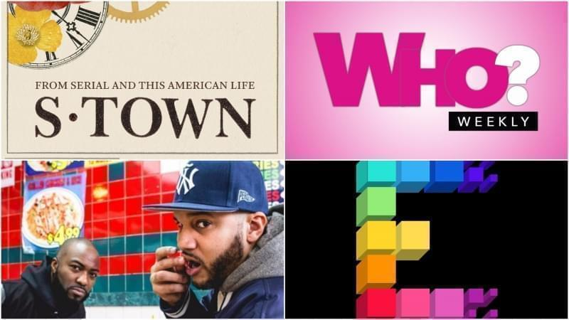 Four of the podcasts that our guests recommend: S-Town, Who? Weekly, Bodega Boys, and Song Exploder.