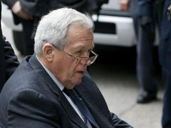 In this April 27, 2016, file photo, former U.S. House Speaker Dennis Hastert departs the federal courthouse in Chicago.