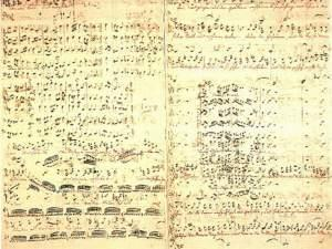 Fair copy in Bach's own hand of the revised version of the St Matthew Passion BWV 244 that is generally dated to the year 1743–46