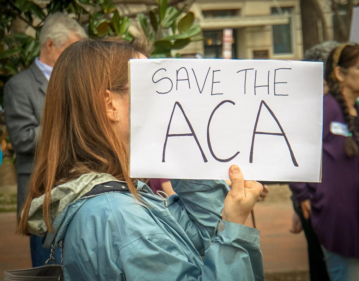 Supporters of Obamacare rally against its repeal in Washington, D.C. in February.