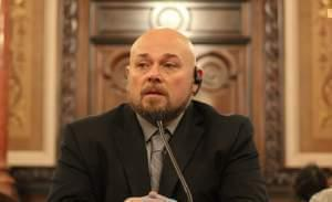 James Kluppelberg testifying at a senate hearing.