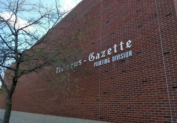 The News-Gazette pressroom building in Champaign.