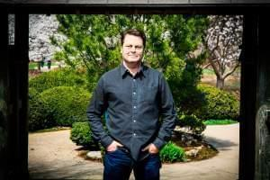 Actor, humorist, author and woodworker Nick Offerman will give the commencement address at the University of Illinois on May 13.