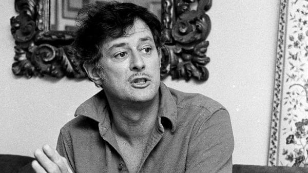 Black and white photo of sportswriter Frank Deford
