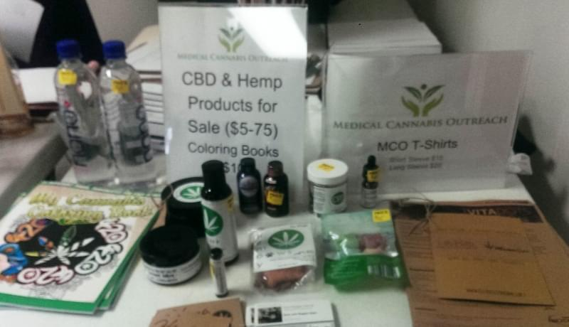 Medical cannabis related products are sold at a Medical Cannabis Outreach clinic in Shelbyville on April 29.