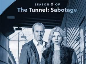 Photo of the 2 main characters from The Tunnel: Stephen Dillane, and Clémence Poésy