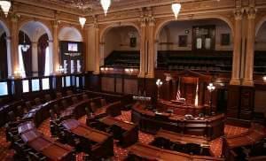 Illinois Senate chamber.