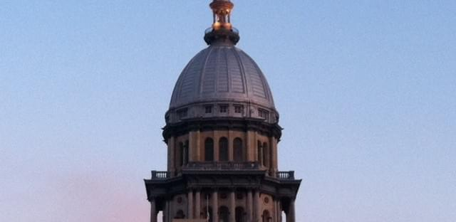 File: The Illinois Capitol Building in Springfield.