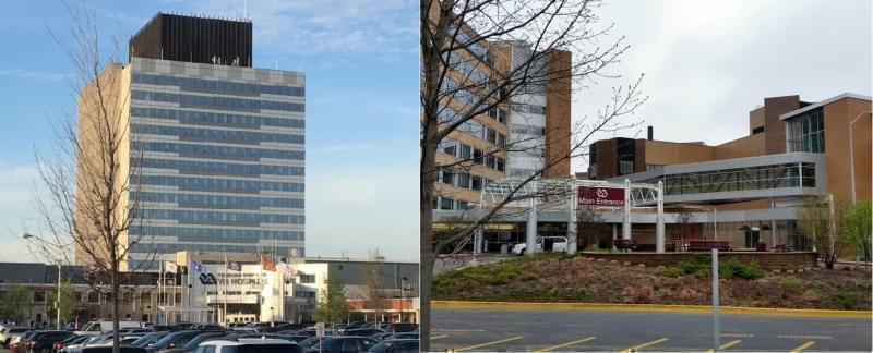 Veterans Administration hospitals in the Chicago area, left, and Madison, Wis.