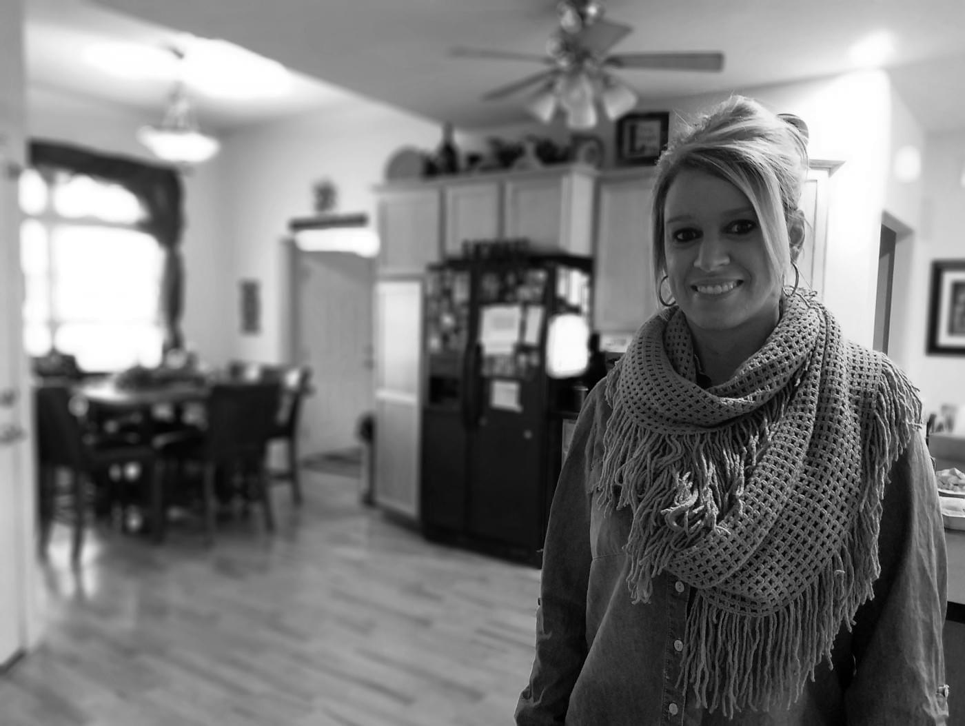 Jaime Smith at her home in St. Joseph.