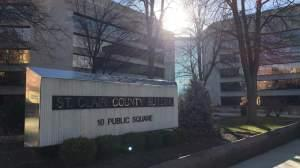 The St. Clair County Courthouse.