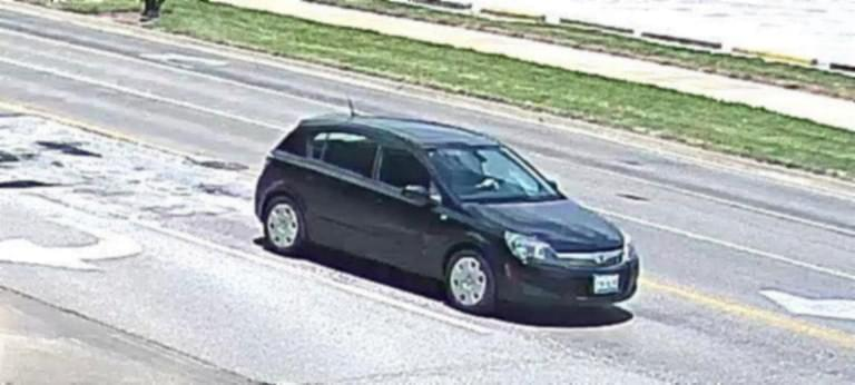The black Saturn Astra that Yingying Zhang entered voluntarily on Friday, June 9.