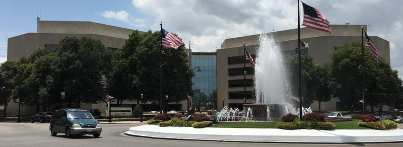 The St. Clair County Building in Belleville, Illinois