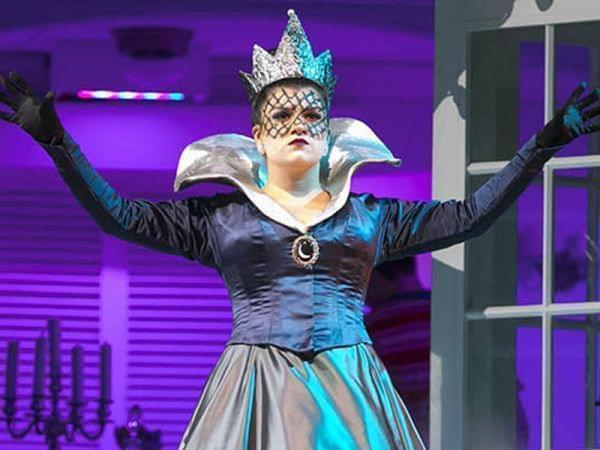 woman singing on stage during The Magic Flute performance