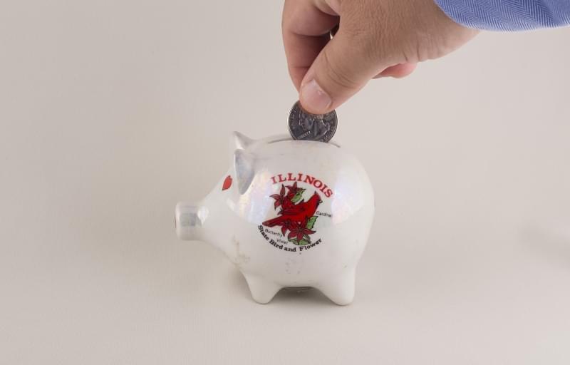 Illinois piggy bank.