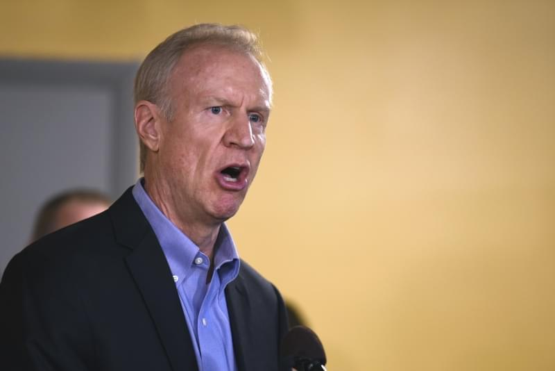 Illinois Gov. Bruce Rauner speaks during a news conference, Wednesday, July 5, in Chicago.