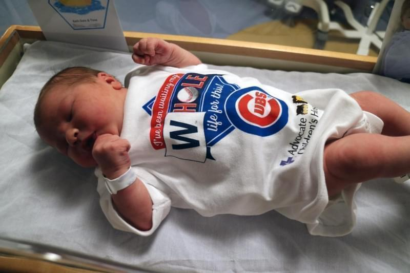 Last fall Advocate BroMenn gave away special onesies for the Cubs World Series win.