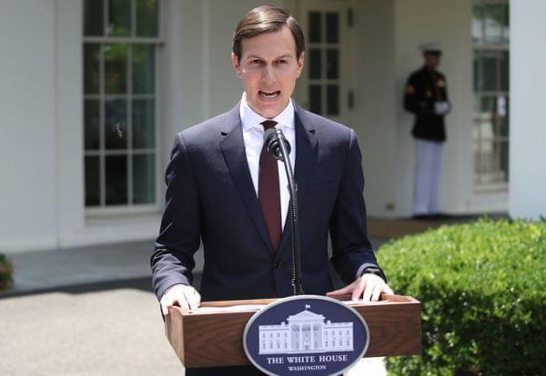 White House senior adviser and Trump son-in-law Jared Kushner reads a statement Monday in front of the West Wing of the White House after meeting behind closed doors with the Senate Intelligence Committee about Russian meddling in the 2016 presidenti