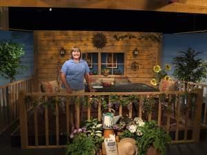 Dianne Noland on the set of Mid-American Gardener