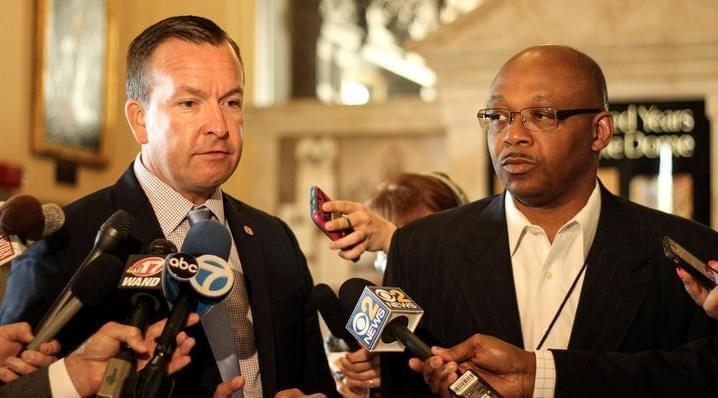 State Sen. Andy Manar and St. Rep. Will Davis.