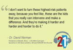 quote from Dr. David Norman