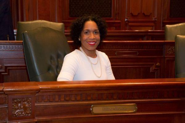 Juliana Stratton in the Illinois House chambers.