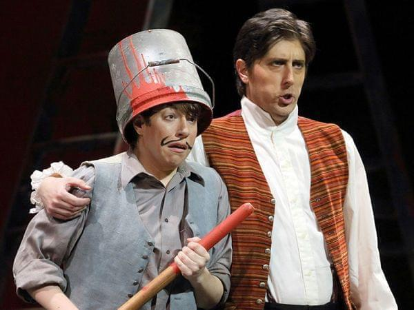 The Los Angeles Opera performs The Marriage of Figaro on stage
