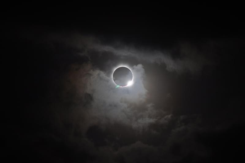 Picture of a solar eclipse.