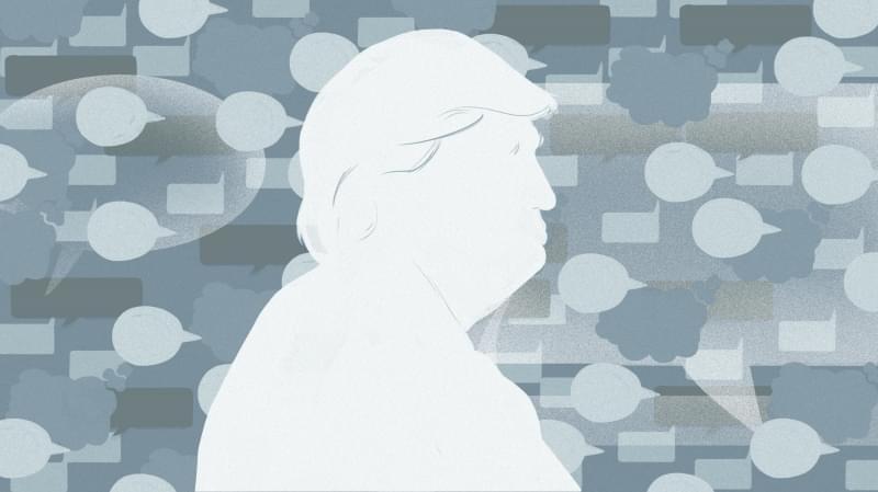 Illustration of President Trump.