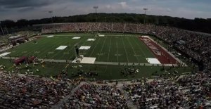 Saluki Stadium in Carbondale as eclipse totality nears.
