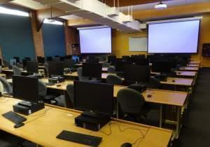 The Oregon Building Computer Lab on the U of I Urbana campus.