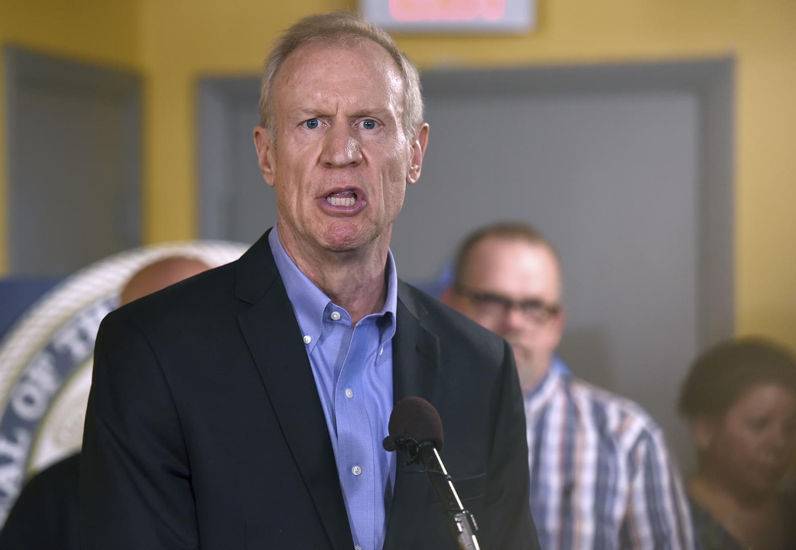 Illinois Gov. Bruce Rauner speaks during a news conference, Wednesday, July 5, 2017, in Chicago.