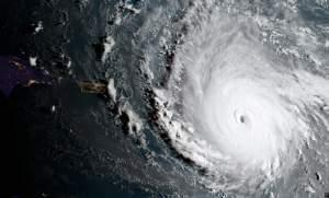 Satellite image of Hurricane Irma.