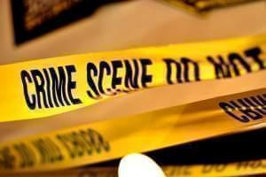 Yellow crime scene tape