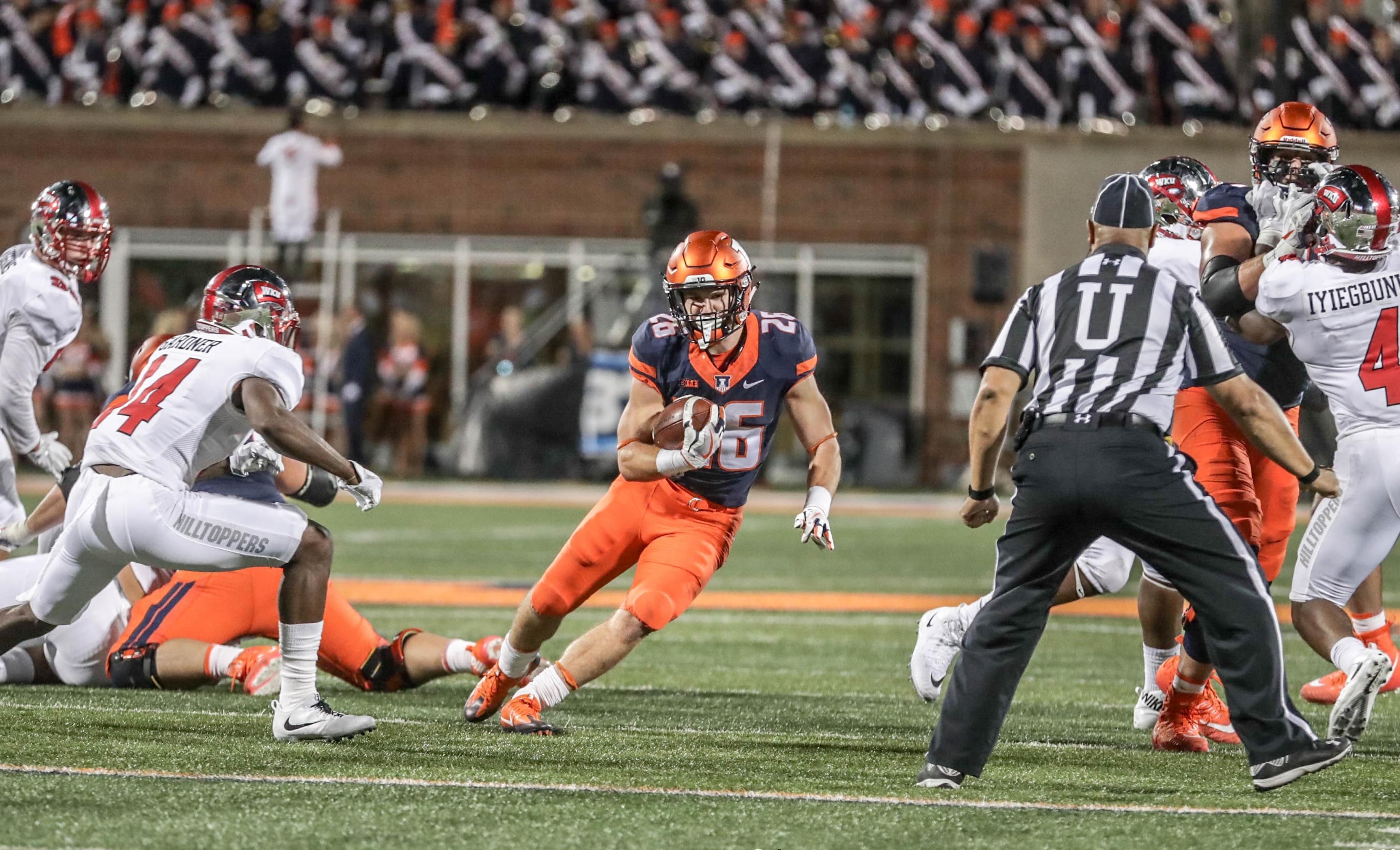 Illinois freshman running back Mike Epstein
