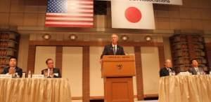 Illinois Gov. Bruce Rauner speaks during the 49th Midwest U.S.-Japan Association Conference on Monday.