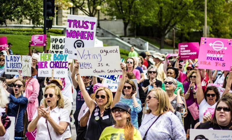 The Illinois Women March on Springfield was held on April 25, 2017 at the state Capitol.