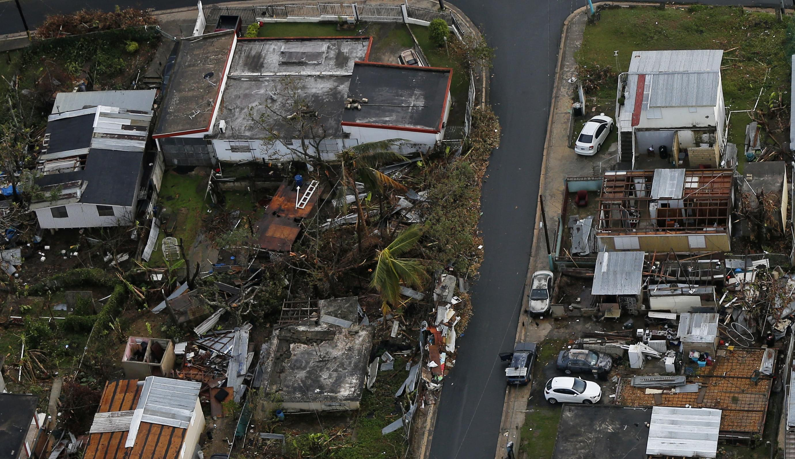 Damage done in Puerto Rico by Hurricane Maria