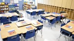 An elementary school classroom.