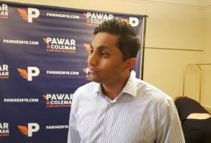 Gubernatorial candidate Ameya Pawar.