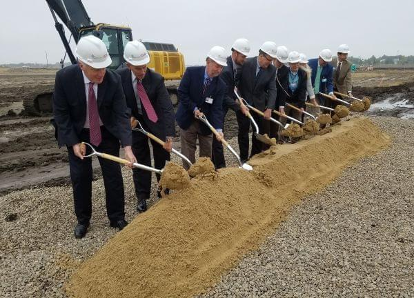 Groundbreaking ceremony for new Carle-Christie surgery center.