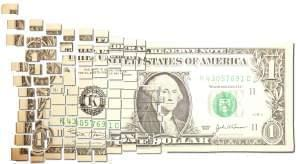 Illustration of dollar bill.