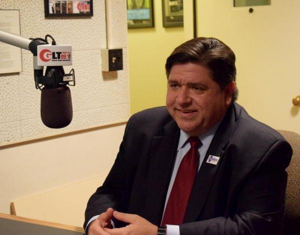 Democratic candidate for JB Pritzker in the WGLT studios on Thursday, Oct. 19, 2017.