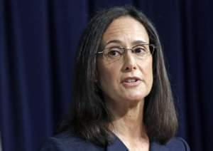 In this Aug. 21, 2014, file photo, Illinois Attorney Gen. Lisa Madigan speaks during a news conference in Chicago.