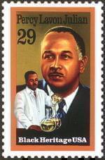 Percy Lavon Julian postage stamp
