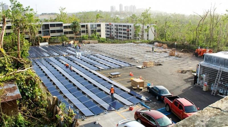 Tesla is using solar panels to help power a children's hospital in Puerto Rico.