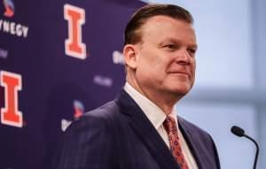 Illinois mens' basketball coach Brad Underwood.