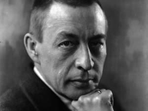 Rachmaninoff in 1921, photographed by Kubey Rembrandt.