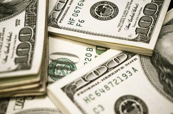 Picture of 100 dollar bills.