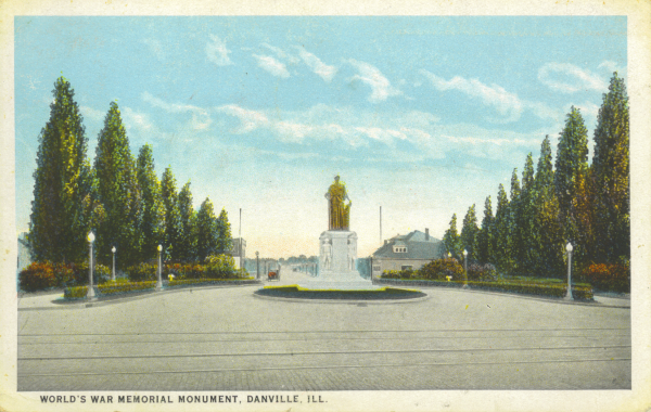 Victory Monument honoring WWI veterans in Danville Illinois
